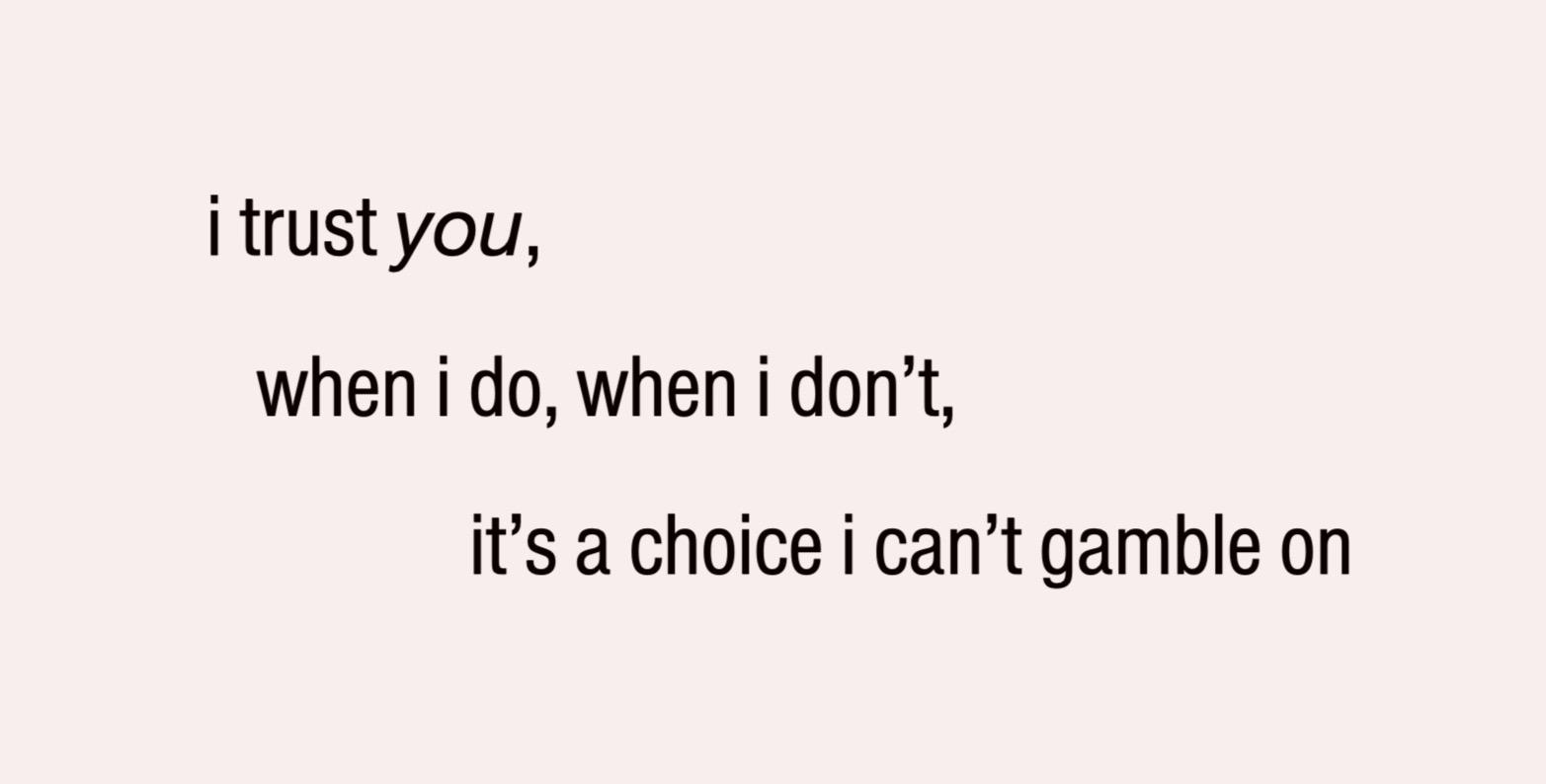 #trust #choices