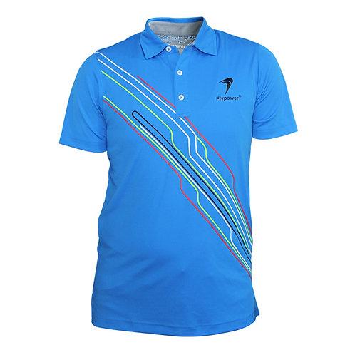 Polo Garis 2 Blue Neon