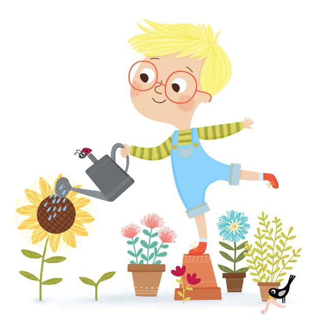 Gardening Sunflower boy