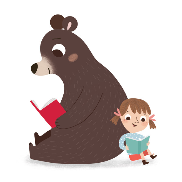 Booktrust Bear and Child reading