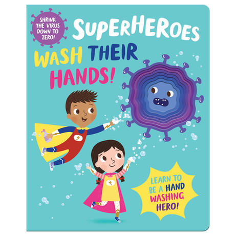 Superheroes Wash Their Hands Book