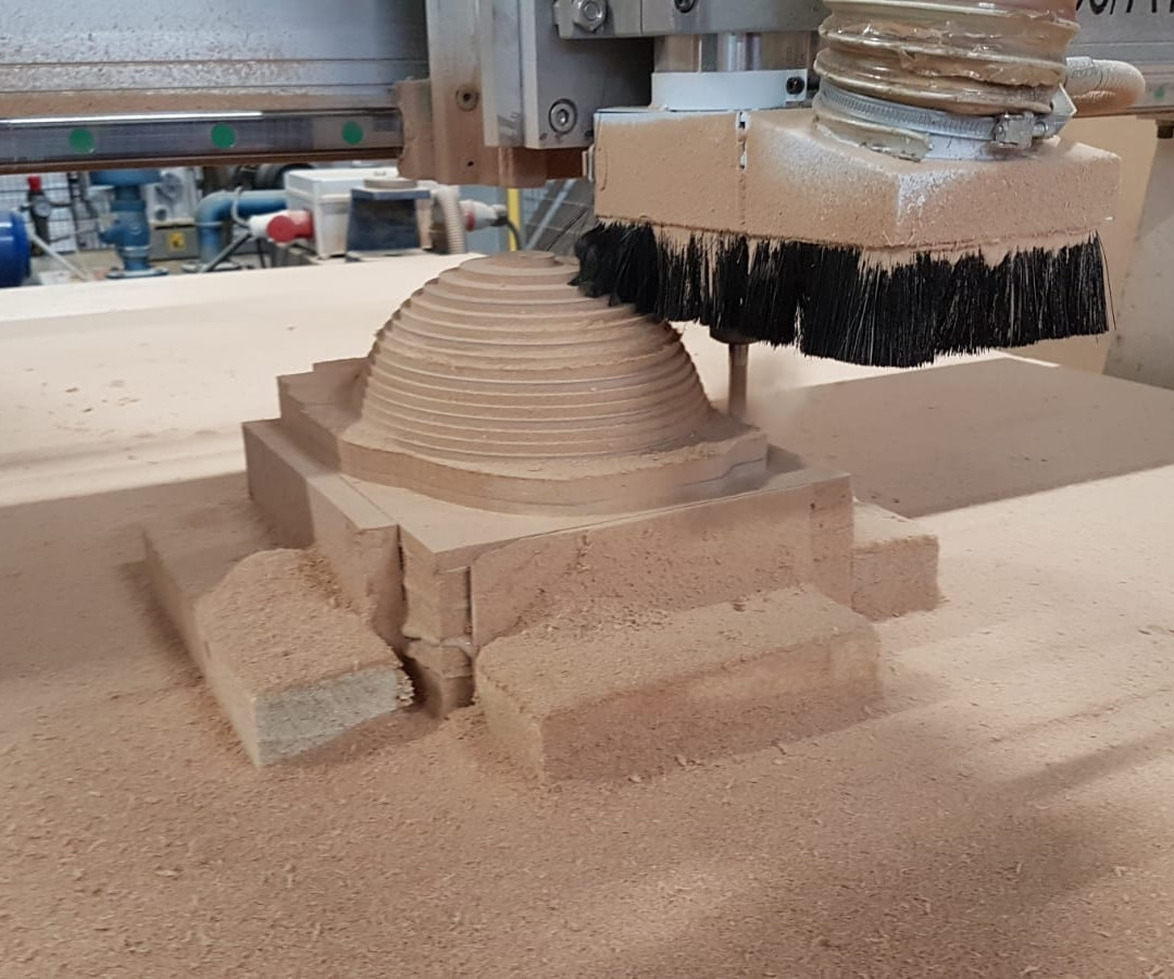 Composiet helm MDF mal