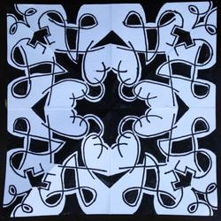 BLack and White Kaleidoscope Stage 2