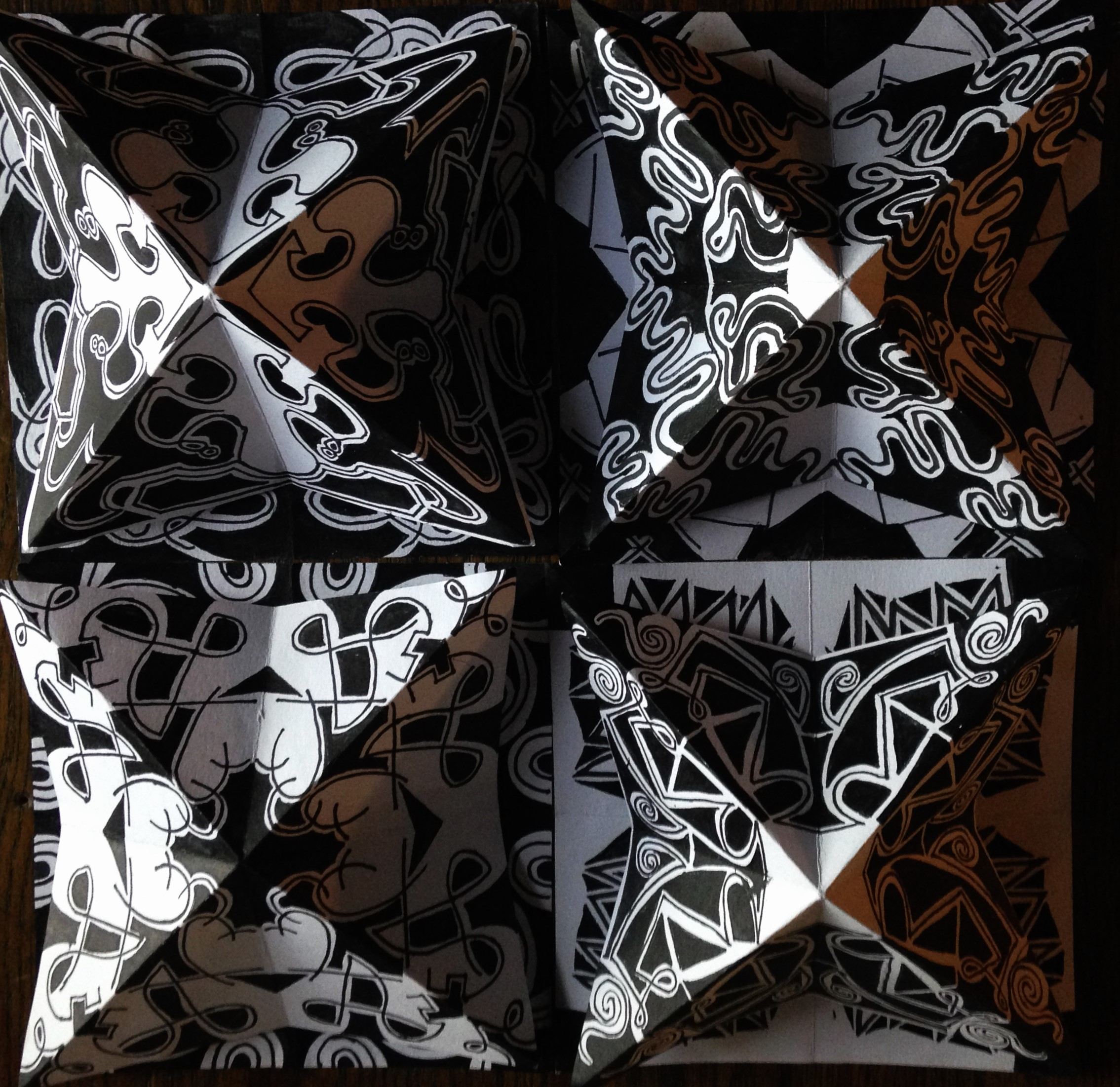 Black and White Kaleidoscopes 5