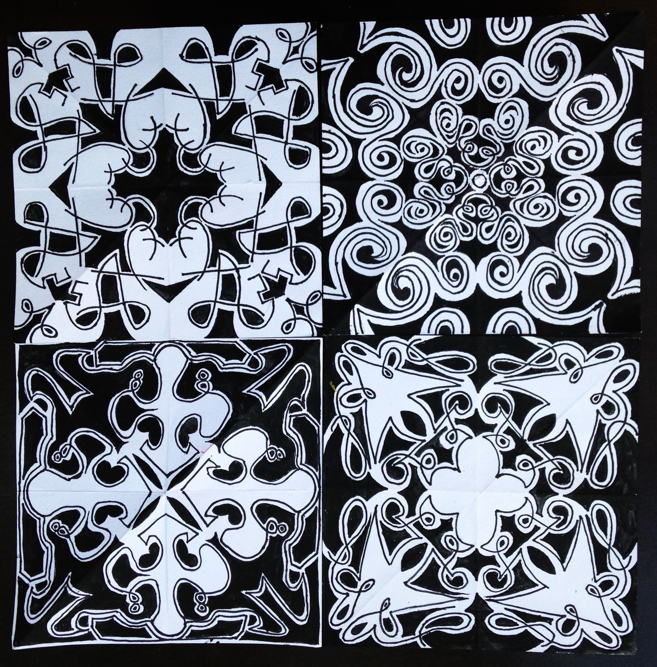 Black and White Kaleidoscopes 1