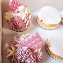 Deluxe cupcakes babyshower meisje