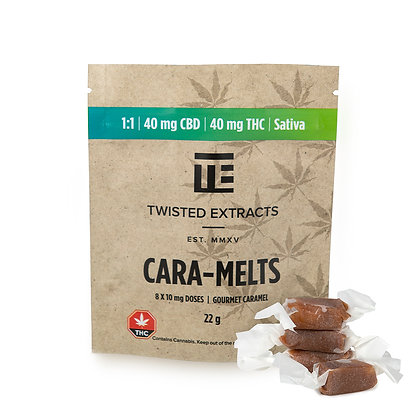 Twisted Cara-Melts 40mg THC 40mg CBD