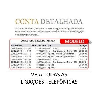 Conta Detalhada - Ligações Telefônicas e SMS