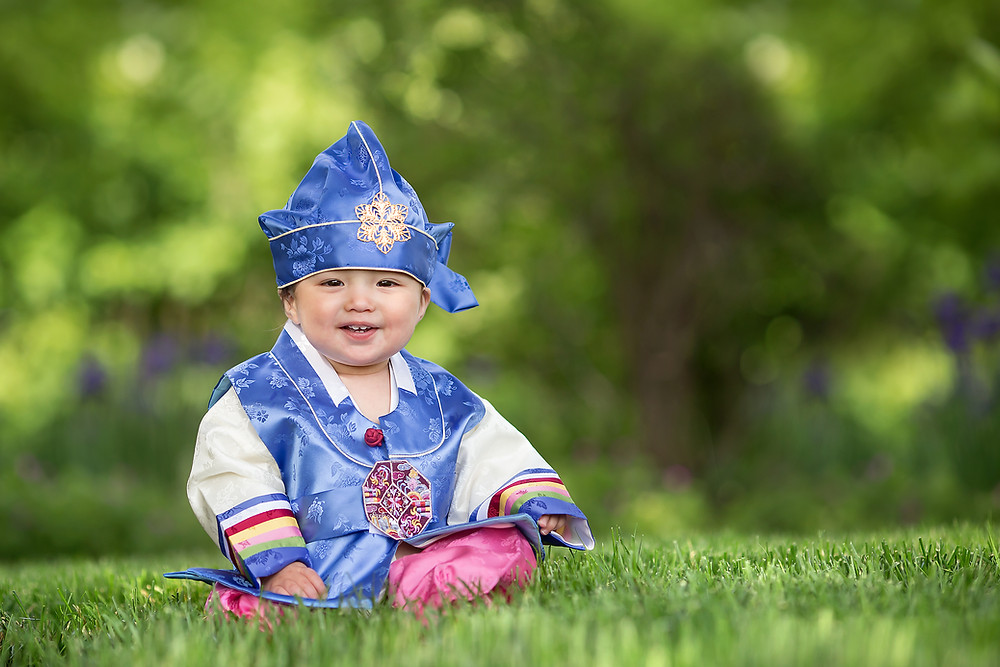 Birmingham Michigan Baby in Hanbok