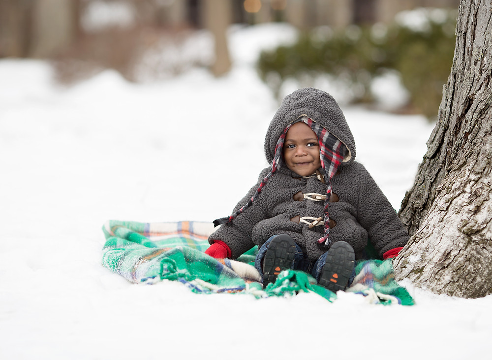 Documenting a Detroit Baby's first time in the snow