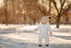 Baby Girl in Winter