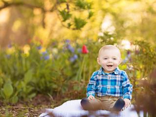 Jeffrey's Spring Morning | Grosse Pointe Baby Photographer