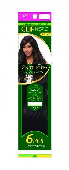 "Brazilian Intrigue Clip Weave 18""  (Natural)"