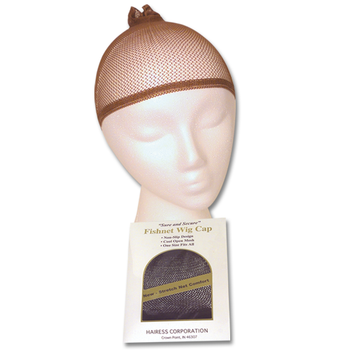 Fishnet Wig Cap  (Brown)