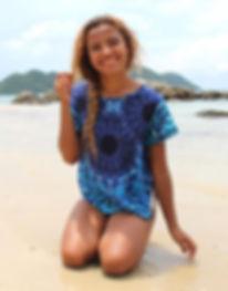 Bohemian Island shirt on beach