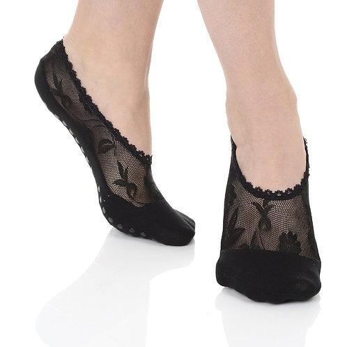 Lace Grip Sock - Black