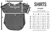Bohemian Island shirt size guide