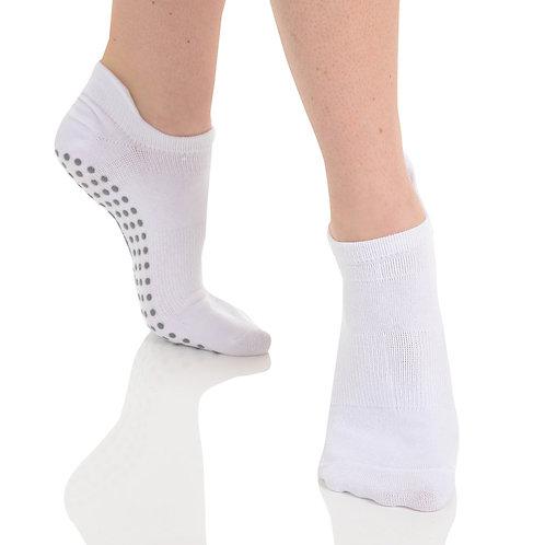 Tab Back Grip Sock - White/Grey