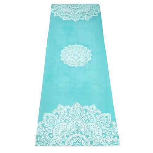 Yoga Mat Towel - Mandala Turquoise