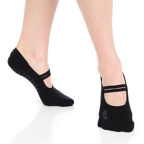 Jules Ballet Grip Sock - Black