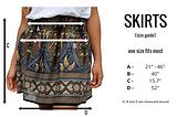 Bohemian Island skirt size guide