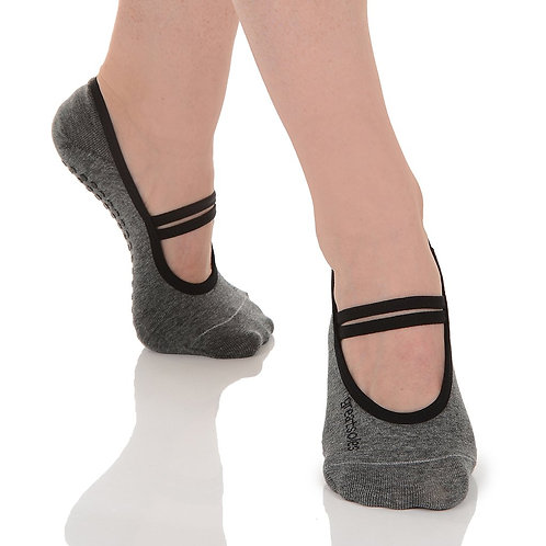 Ballet Grip Sock - Grey/Black