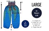 Bohemian Island large harem pants size guide