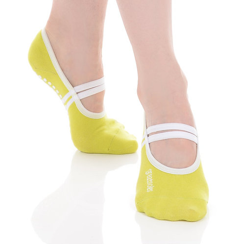 Ballet Grip Sock - Lime/White