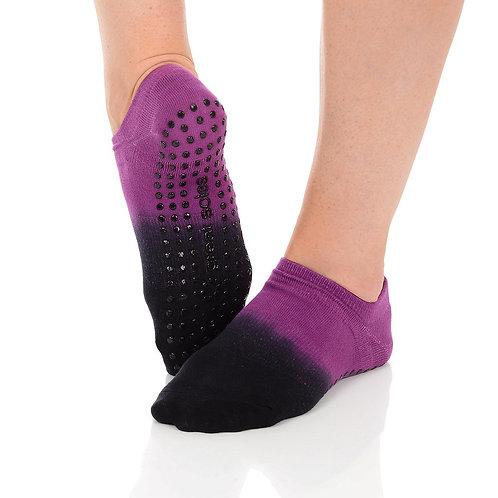 Ombre Grip Sock - Berry