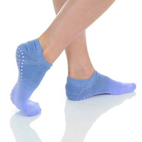 Ombre Grip Sock - Lilac/Silver