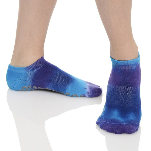 Tie Dyed Grip Sock - Morning Glory