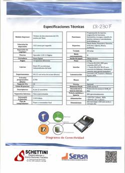 Registradora Fiscal Samsung ER 230F