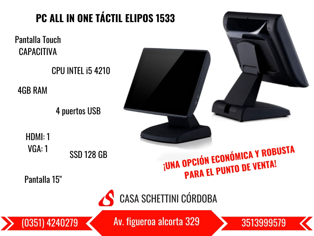 PC ALL IN ONE TÁCTIL ELIPOS-SUN1533