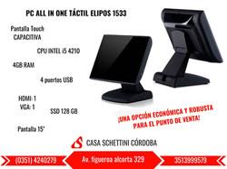 PC ALL IN ONE TÁCTIL ELIPOS-SUN1533