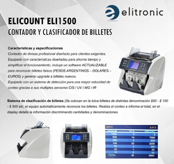 CLASIFICADORA DE BILLETES ELI 1500