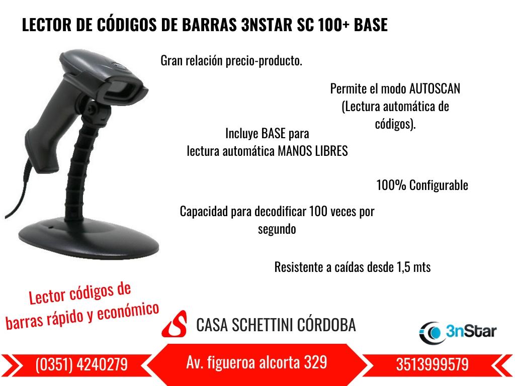 LECTOR DE CÓDIGO DE BARRAS 3NSTAR SC100