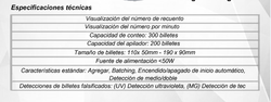 CONTADOR DE BILLETES ELICOUNT ELI190