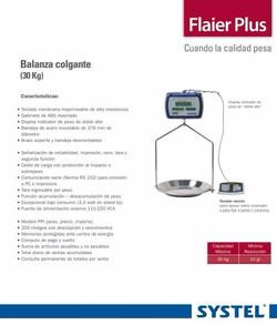 BALANZA COLGANTE SYSTEL FLAIER PLUS 30KG
