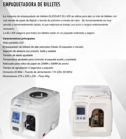 EMPAQUETADORA DE BILLETES ELI 306