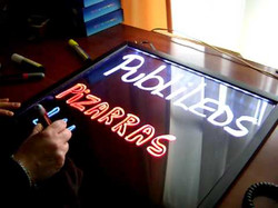 PIZARRA LED LUMINOSA 70x50m