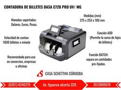 CONTADORA DASA C720 PRO
