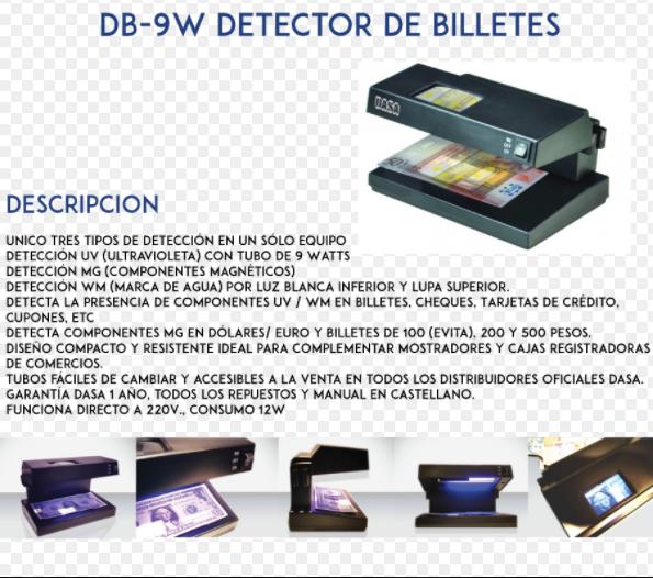 DETECTOR DE FALSOS DB-9W