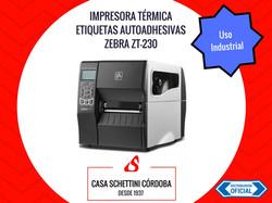IMPRESORA TÉRMICA DE ETIQUETAS ZEBRA ZT230 - SEMI INDUSTRIAL