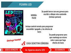 PIZARRA LED LUMINOSA CORDOBA