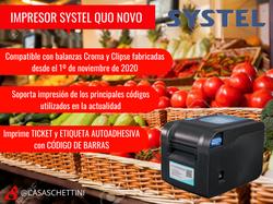 IMPRESOR TICKET + ETIQUETA SYSTEL QUO NOVO