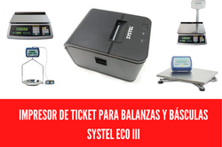 IMPRESOR PARA BALANZA SYSTEL ECO III / 3