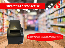 IMPRESOR TÉRMICO SERFORCE TP57 - BALANZAS SYSTEL