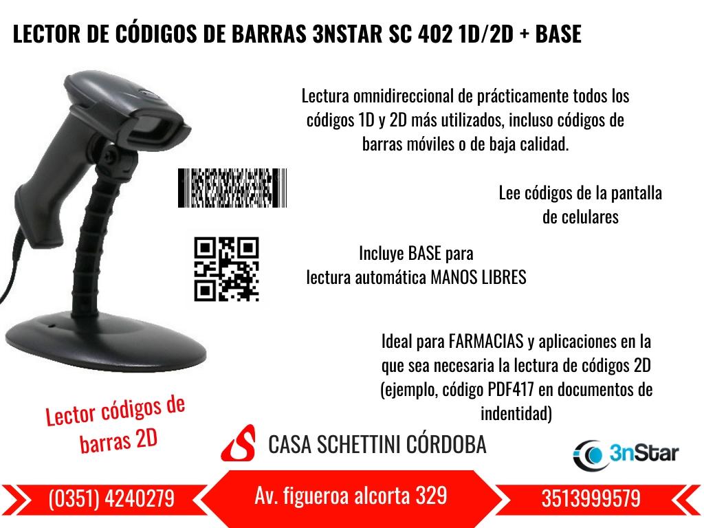LECTOR CÓDIGO DE BARRAS 3NSTAR SC402 1D/2D