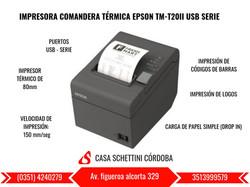 IMPRESORA TÉRMICA EPSON TM-T20II