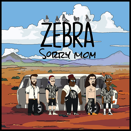 Zebra - Sorry Mom (Album) Design by Duncan Potgieter Soulfleece